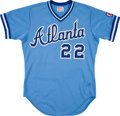 Baseball Collectibles:Uniforms, 1983 Brett Butler Game Worn Atlanta Braves Jersey. ...