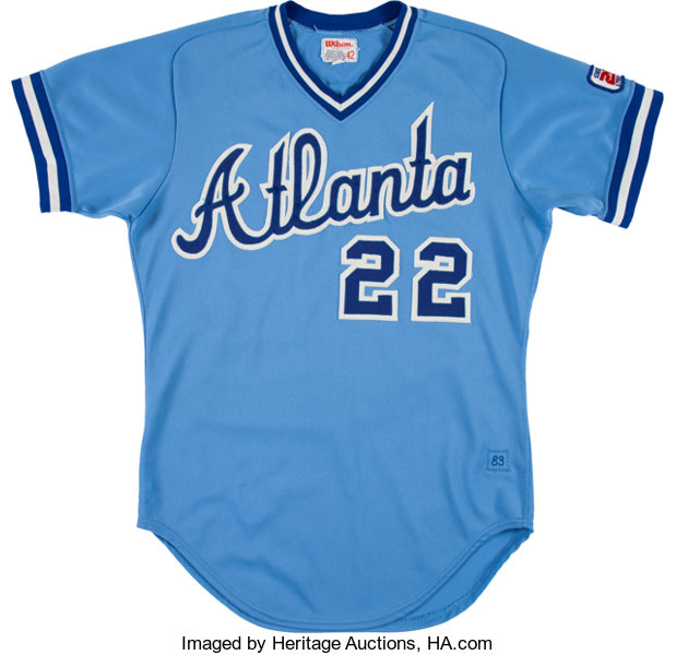more photos f01c1 25bbb 1983 Brett Butler Game Worn Atlanta Braves Jersey ...