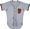 Baseball Collectibles:Uniforms, 1988 Brett Butler Game Worn San Francisco Giants Jersey. ...