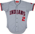 Baseball Collectibles:Uniforms, 1987 Brett Butler Game Worn Cleveland Indians Jersey. ...