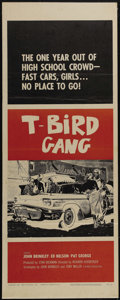"""Movie Posters:Drama, T-Bird Gang (Film Group, Inc., 1959). Insert (14"""" X 36""""). Well-donetale of a young man just out of high school who teams up..."""