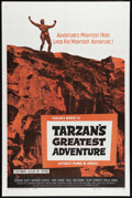 "Movie Posters:Adventure, Tarzan's Greatest Adventure (Paramount, 1959). One Sheet (27"" X 41""). Gordon Scott is Tarzan, and he's facing off with four ..."
