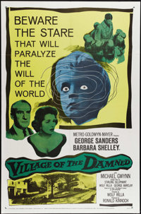 "Village of the Damned (Loews - MGM, 1960). One Sheet (27"" X 41""). One of the most influential science fiction/..."