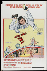 "Way...Way Out (20th Century Fox, 1966). One Sheet (27"" X 41""). Jerry Lewis, Connie Stevens and Brian Keith are..."