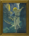 Prints:American, MAXFIELD PARRISH (American 1870 - 1966). The Canyon, 1924. Periodprint on paper (Reinthal & Newman, N.Y.). 11.5 x 14.5in.. ...
