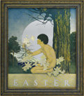 Prints:American, MAXFIELD PARRISH (American 1870 - 1966). Easter, 1905. From TheGolden Treasury of Songs and Lyrics. Period print on pap...