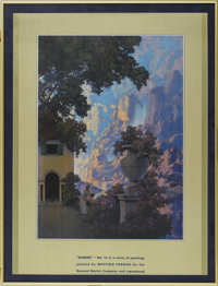 MAXFIELD PARRISH (American 1870 - 1966) Sunrise, 1933 Period print on paper (for the General Electric Company) 14.5 x 20...
