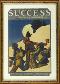 Prints:American, MAXFIELD PARRISH (American 1870 - 1966). Success, 1901, December.Illustrated magazine cover in color. Period print on paper...