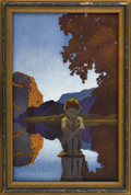 Prints:American, MAXFIELD PARRISH (American 1870 - 1966). Evening, 1922. Periodprint on paper (The House of Art, N.Y.). 6 x 9.6in. (sight si...