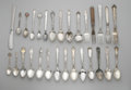 Other:American, A GROUPING OF SILVER FLATWARE. Various makers. The grouping offlatware includes forty (40) spoons, twelve (12) forks, and...(Total: 58 Items)
