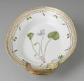 Decorative Arts, Continental:Other , A DANISH 'FLORA DANICA' RELISH DISH. Royal Copenhagen,mid-Twentieth Century. The Viola epipsila Ledeb. decorated ovaldis...