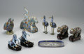 Decorative Arts, Continental:Other , A GROUP OF CLOISONNE ITEMS... (9 Items)