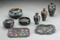 Decorative Arts, Continental:Other , A GROUP OF CLOISONNE ITEMS... (11 Items)