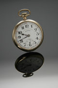 Clocks & Mechanical, A GOLD POCKET WATCH. Illinois Watch Co., Springfield, Illinois. The guaranteed gold-filled timepiece with white dial and A...