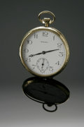 Clocks & Mechanical, AN AMERICAN POCKETWATCH. Howard Watch Co., Boston. The timepiece with original white dials signed Howard, with Arabic ... (Total: 1 Item Item)