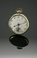 Clocks & Mechanical, A GOLD POCKET WATCH. E. Howard Watch Co., Boston. The timepiece with 18k gold filled guaranteed case, with inscription to ... (Total: 1 Item Item)