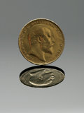 Estate Jewelry:Other , AN ENGLISH GOLD COIN. The English sovereign yellow gold coin dated1908. .8in. diameter; containing .2354 ounces of gold. ...