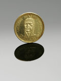 Estate Jewelry:Other , A VENEZUELAN GOLD COIN. 1950s. The Venezuelan gold coin readingCACIQUES DE VENEZUELA, marked sixteenth century (refer...
