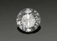 A LOOSE DIAMOND  The round full-cut loose diamond, measuring 6.8mm, approximately 1.17 carats