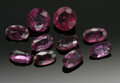 Estate Jewelry:Other , NINE LOOSE PINK SAPPHIRES. A grouping of nine cushion cut and ovalcut pink sapphires, various sizes. ... (Total: 9 Items)
