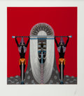 Decorative Prints, European:Prints, Erté (Romain de Tirtoff) (Russian/French, 1892-1990). TheEgyptian , 1986. Embossed screenprint with foil stamping onwh...