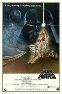 "Star Wars (20th Century Records, 1977). Soundtrack One Sheet (27"" X 41"") Tom Jung Artwork"