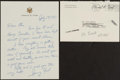 Autographs:Baseballs, Gerald Ford Signed Letter from The Stan Musial Collection. ...