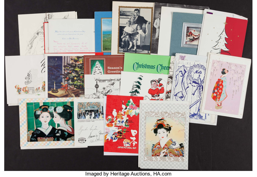 Collection of Christmas Cards from The Stan Musial Collection ...