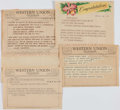 Baseball Collectibles:Others, Collection of Telegrams lot of 50+ from The Stan Musial Collection....