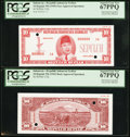 World Currency, Indonesia Republik Indonesia Serikat 10 Rupiah ND (1949) Pick UNL Face and Back Approval Specimens.. ... (Total: 2 notes)
