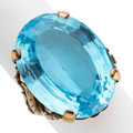 Estate Jewelry:Rings, Blue Topaz, Gold Ring. ...