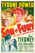 "Movie Posters:Adventure, Son of Fury (20th Century Fox, 1942). One Sheet (27"" X 41"").. ..."