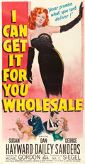 "Movie Posters:Drama, I Can Get It for You Wholesale (20th Century Fox, 1951). ThreeSheet (41"" X 79"").. ..."