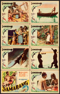"""Movie Posters:Documentary, Samarang (United Artists, 1933). Lobby Card Set of 8 (11"""" X 14"""").. ... (Total: 8 Items)"""