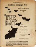"Movie Posters:Mystery, The Bat (United Artists, 1926). Uncut Pressbook with Herald (16Pages, 9.5"" X 12.75"").. ..."