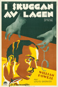 "Movie Posters:Crime, Shadow of the Law (Paramount, 1930). Swedish One Sheet (23"" X 35"")Gosta Aberg Artwork.. ..."