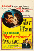 """Movie Posters:Hitchcock, Notorious (Selznick, R-1954). One Sheet (27"""" X 41"""").. ..."""