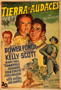 """Movie Posters:Western, Jesse James (20th Century Fox, 1939). Argentinean One Sheet (29"""" X 43"""").. ..."""