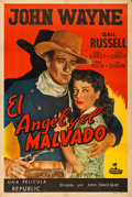 """Movie Posters:Western, Angel and the Badman (Republic, 1947). Argentinean Poster (29"""" X 43.5"""").. ..."""