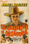 """Movie Posters:Western, The Oklahoma Kid (Warner Brothers, 1939). Argentinean Poster (29"""" X 43"""").. ..."""