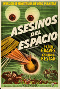"Movie Posters:Science Fiction, Killers from Space (RKO, 1954). Argentinean Poster (29"" X 43"").Science Fiction.. ..."