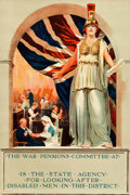 "Movie Posters:War, World War I Propaganda (War Pensions Committee, 1916). BritishPoster (19.5"" X 29"") Mary Evans Artwork.. ..."