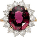 Estate Jewelry:Rings, Rhodolite Garnet, Diamond, Platinum, Gold Ring. ... (Total: 0Items)