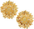 Estate Jewelry:Earrings, Diamond, Gold Earrings, Asprey. ... (Total: 2 Items)