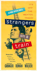 "Movie Posters:Hitchcock, Strangers on a Train (Warner Brothers, 1951). Three Sheet (41"" X81"").. ..."