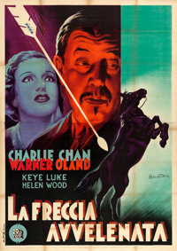 "Charlie Chan at the Race Track (20th Century Fox, 1936). Italian 4 - Fogli (55"" X 77.5"") Anselmo Ballester Art..."