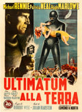 "Movie Posters:Science Fiction, The Day the Earth Stood Still (20th Century Fox, 1951). Italian 4 - Fogli (54.5"" X 74"") Giamarra Artwork.. ..."
