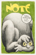 Original Comic Art:Covers, Robert Crumb Note Cover Original Art (1960)....