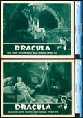 """Movie Posters:Horror, Dracula (Universal, R-1947). CGC Graded Lobby Cards (2) (11"""" X14"""").. ... (Total: 2 Items)"""