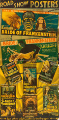 "Movie Posters:Horror, The Bride of Frankenstein (Universal, 1935). Pressbook Back Page(12.5"" X 25.5).. ..."